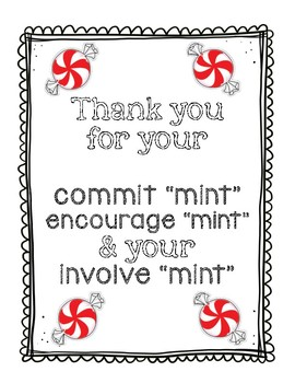 photograph about Thank You for Your Commit Mint Printable titled Thank Your self Mints Worksheets Coaching Supplies TpT