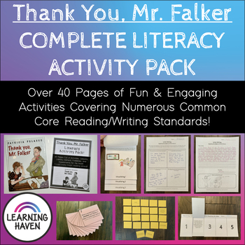"""""""Thank You, Mr Falker"""" COMMON CORE Literacy Activity Pack"""