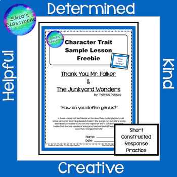Character Trait Constructed Response Practice - Mr. Falker