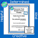 Thank You, Mr. Falker Character Trait Sample Lesson Freebie