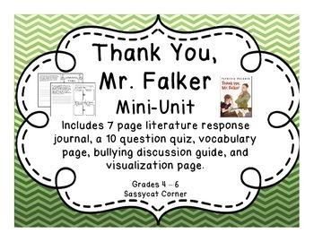 Thank You, Mr. Falker Mini Literature Unit