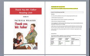 Thank You Mr. Falker One Week Unit