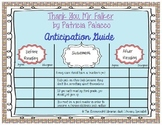 Thank You, Mr. Falker Patricia Palacco Comprehension Anticipation Guide