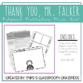 Thank You, Mr. Falker Unit of Study-Personal Narrative-Men