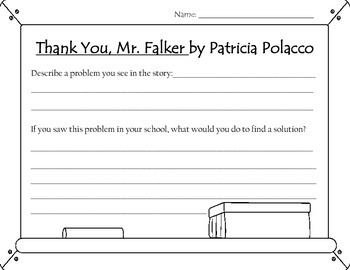 Thank You, Mr. Falker Worksheet