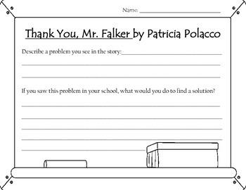 Thank You, Mr. Falker Worksheet
