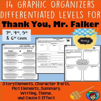 Thank You Mr. Falker activities, Mentor Text Fiction Graphic Organizers