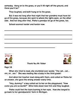 Thank You Mr. Falker - excerpts - GIST (Main Idea)  Common Core