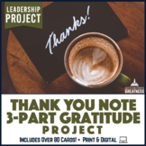 Thank You Note Card Letter or Random Acts of Kindness Project