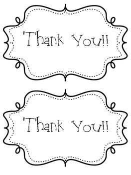 Thank You Note Cards (Freebie!)