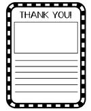 Thank You Note - Freebie!