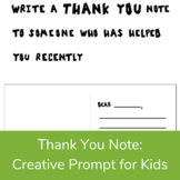 Thank You Note Positive Filler or Stress Break