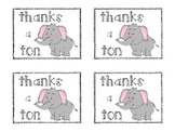Thank You Note Pun- Thanks a Ton