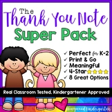 Thank You Note SUPER Pack!  For volunteers , school workers , parents , paras