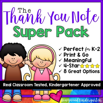 Thank You Note Super Pack For Volunteers  School Workers  Parents