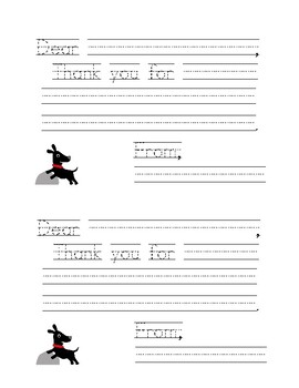 Thank You Note Templates (5 Different Designs)