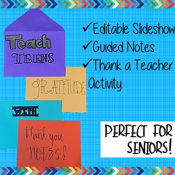 Thank You Note Writing for End of the Year
