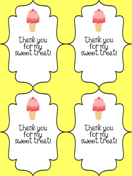 Thank You Note for Students - Sweet Treat - Ice Cream