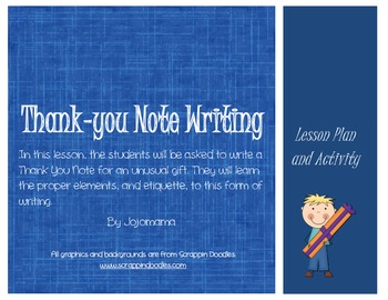 Thank You Note/Friendly Letter Writing Activity