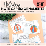 Holiday Note Cards | Thank You Notes | Notes to Students | Christmas Ornaments