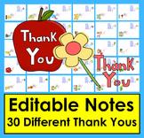 Teacher Appreciation Thank You Notes  -  30 Different EDIT