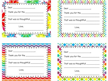 Thank You Notes ~ Brights
