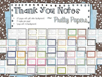 Thank You Notes ~ Bundle