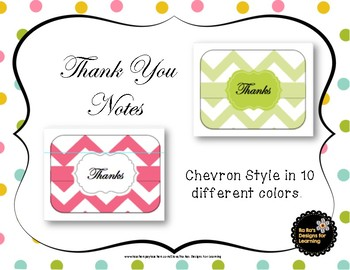 Thank You Notes Chevron Style
