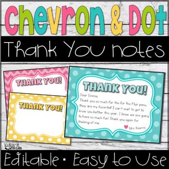 #teachersremember Thank You Notes {Editable}