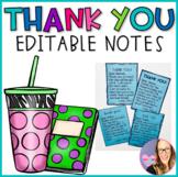 Thank You Notes- Editable