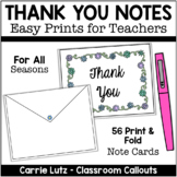Thank You Cards  | Thank You Notes For Teachers