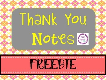 Thank You Notes Freebie