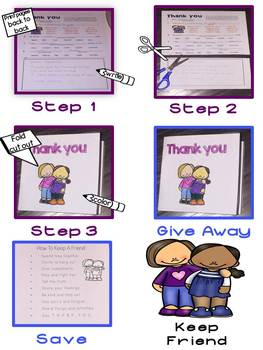 Fill InThe Blank THANK YOU Notes For Social Skill Groups
