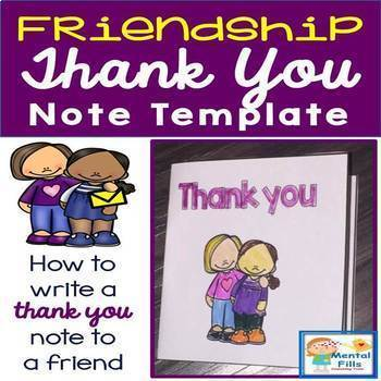 How To Write Thank You Notes To Friends Greeting Card Template
