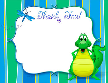 Thank You Notes-Postcard style - Blank Template