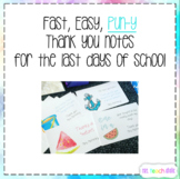 Thank You Notes - Summer