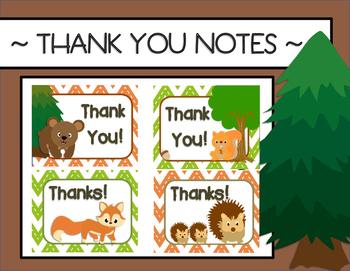 Thank You Notes {Woodland Animals}