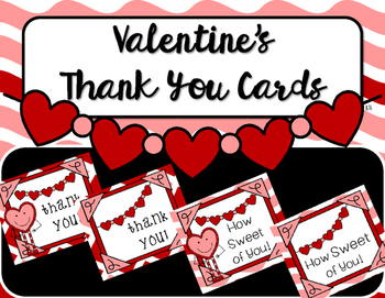 Thank You Notes {Valentine's Day/Hearts}