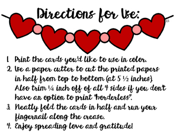 Valentine's Day Thank You Notes