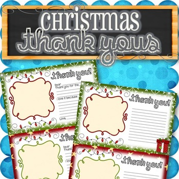 Thank You Notes for Kids (Christmas and Birthdays)