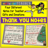 Thank You Notes for Parent Gifts and Donations