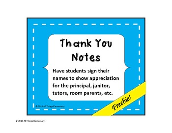 Thank you notes for staff appreciation by all things elementary tpt thank you notes for staff appreciation altavistaventures Choice Image