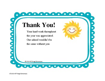 Thank You Notes for Staff Appreciation by All Things ...