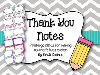 Thank You Notes & Blank Cards {Chevron, Dots, and Stripes}