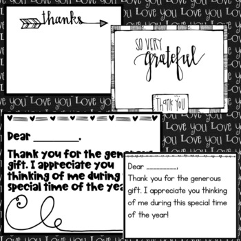 Valentine's Day Thank You Notes- Editable