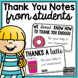 Thank You Notes from Students - Donors Choose or Parent Volunteer