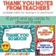 Thank-You Notes from Teachers to Students