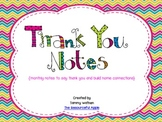 Thank You Notes {monthly notes to say thank you and build connections}