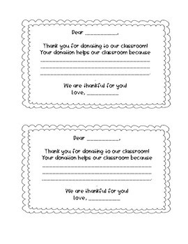 Thank You Notes template