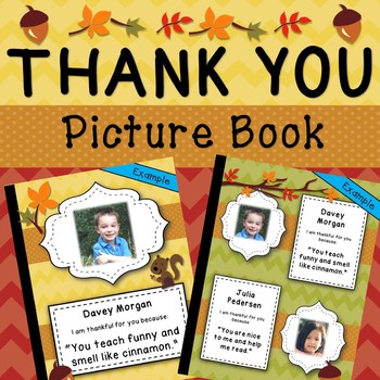 Thank You Photo Book for Teachers, Student Teachers, Principals, etc. EDITABLE